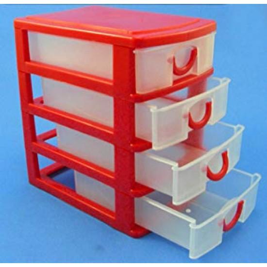 4 Drawer Mini Storage Trays