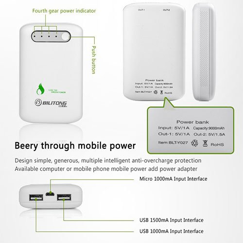 BiliTong Power Bank Y027 ( 9000 mAh )