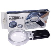 TH-7006B 2 Lens Foldable Magnifying Glass With 10 LED Lights