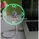USB Mini Flexible Time LED Clock Fan