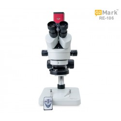 G2Mark RE-106 7X-45X Trinocular Stereo Microscope With 20MP HDMI Camera With LED Adjustable Light Exclusive Quality