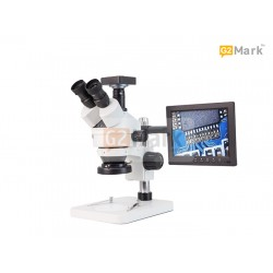 G2Mark RE-106 7X-45X Trinocular Stereo Microscope With HD 21MP Camera and 7 Inch TFT Monitor