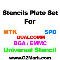 14Pcs 0.12MM RELIFE Stencils Set ( MTK / SPD / QUALCOM / BGA eMMC / Universal )